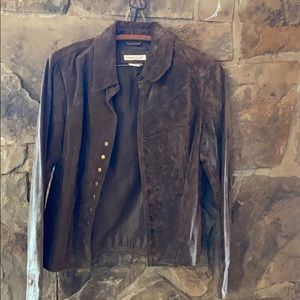 Cold water creek suede jacket